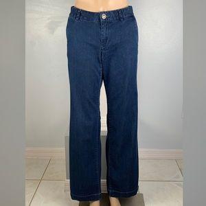 ANN TAYLOR LOFT Size 6 Blue Modern Trouser Jeans